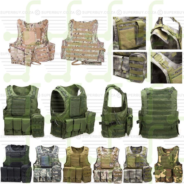 Outdoor Tactical Vest with Multi Pockets - Camo