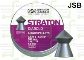 JSB Diabolo Exact Straton 4.5mm .177 Caliber Ammunition Air gun Air Rifle Pellets - Tins of 500