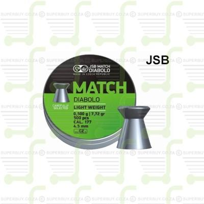 JSB Diabolo Match Light Weight 4.5mm .177 Caliber Ammunition Air gun Air Rifle Pellets - Green Tins