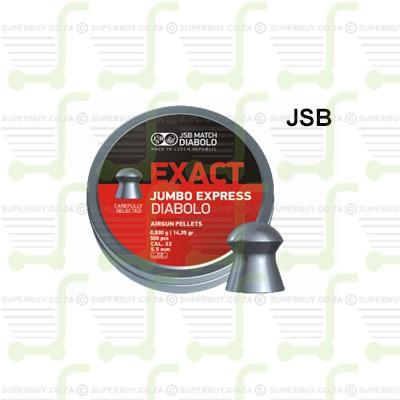 JSB Diabolo Jumbo Exact Express 5.5mm .22 Caliber Ammunition Air gun Air Rifle Pellets - Tins of 500