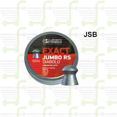 JSB Exact Jumbo RS 5.5mm .22 Caliber Ammunition Air gun Air Rifle Pellets - Tins of 500