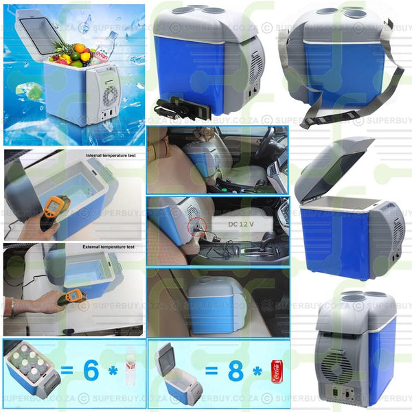 Dual Function Portable Electronic Cooling and Warming Car and Home Refrigerator 7.5L