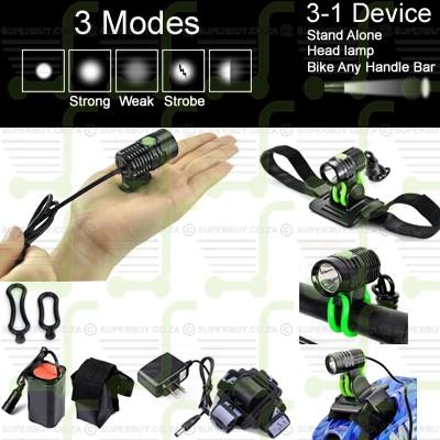 Super Mini 800LM CREE V6 XM-L T6 X1 Rechargeable Multi Fuction 1 LED Headlight Headlamp / Bike Torch