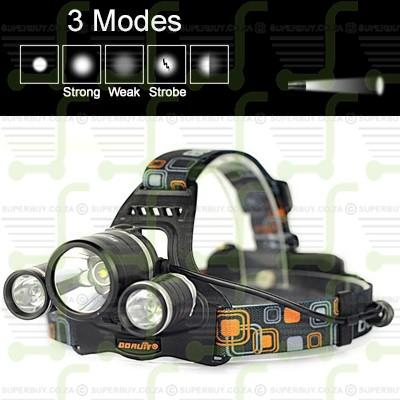 3 Mode LED Super Bright Headlight Headlamp v4