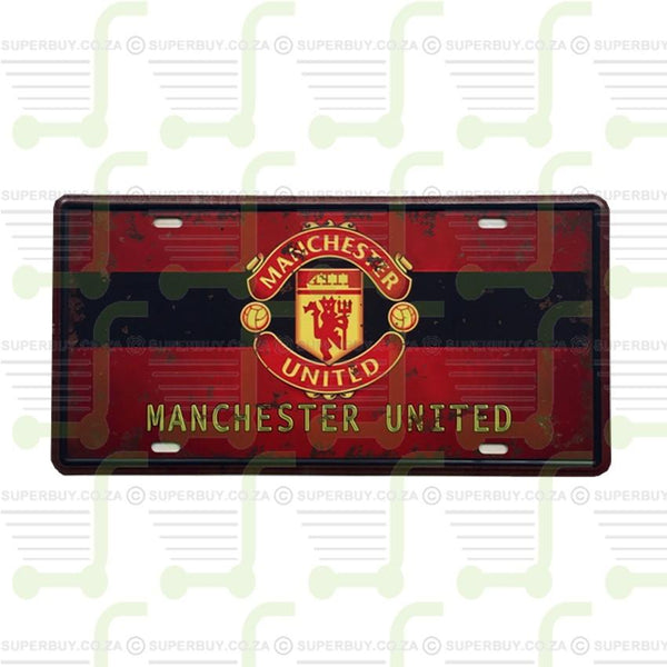 Antique Style Retro Number Plate Sign Plate Pub Decor - Manchester United