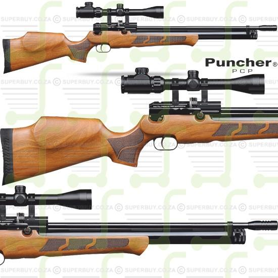 Kral Arms Puncher W Walnut PCP Air Rifle 5.5mm .22 cal