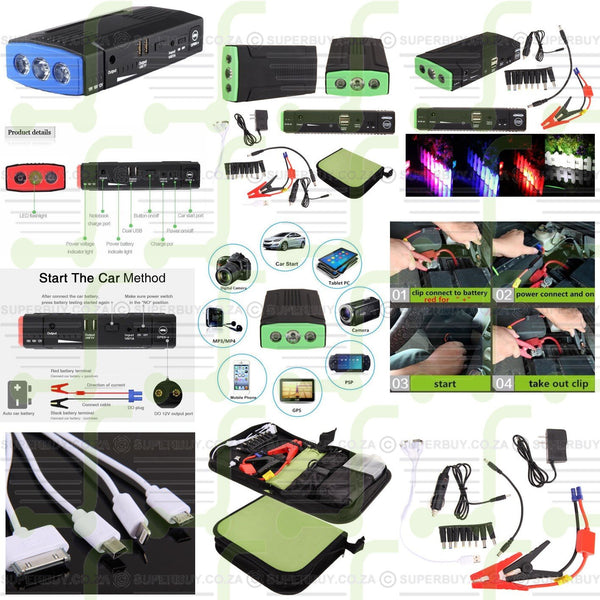 12V 13500mAh Auto Car Jump Starter Power Bank Battery Charger Laptop Mobile Phone