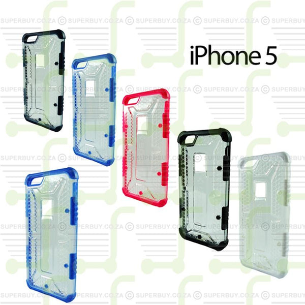 Ultra Fit Crystal Armor Hard Case for iPhone 5 - Blue