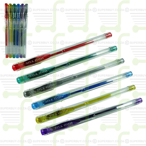 Glittery Coloring Pens in PL Case Pack of 6
