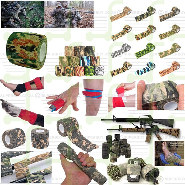 Bandage Wrap Camouflage Hunting Stealth Wrap 2 50mm x 4.5m