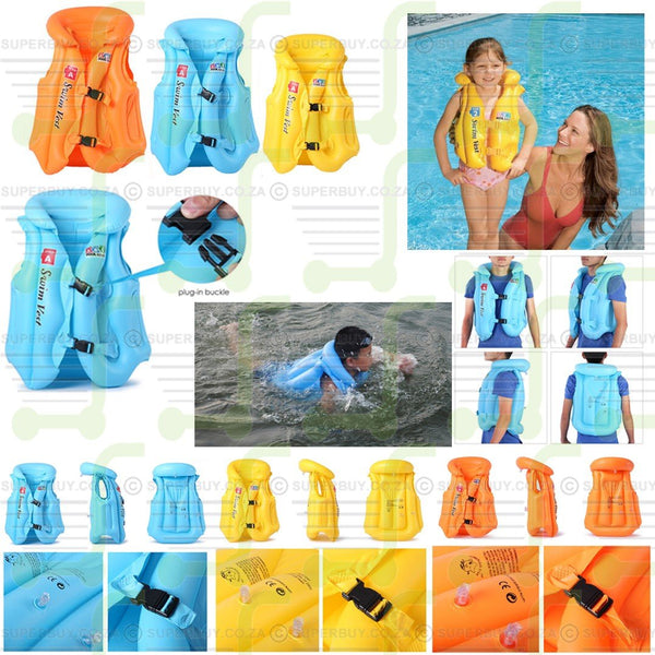 Inflatable Flotation Device Swimming Practice Vest Jacket (Large 52cm)