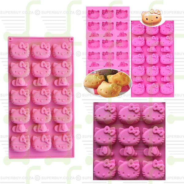 Hello Kitty Silicone Mold with 15 Cavities
