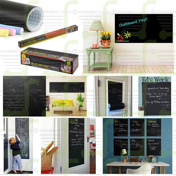 Removable Blackboard Sticker Vinyl Wall Sticker Chalkboard Decal 45 x 110cm
