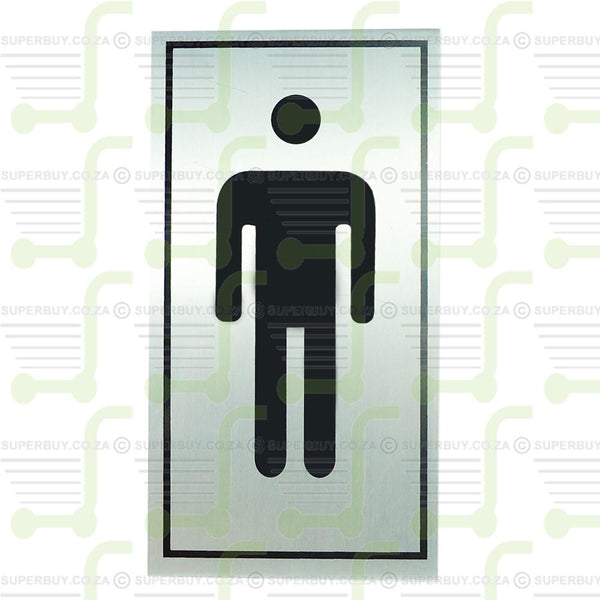 Aluminium Sign - Man Figure Black
