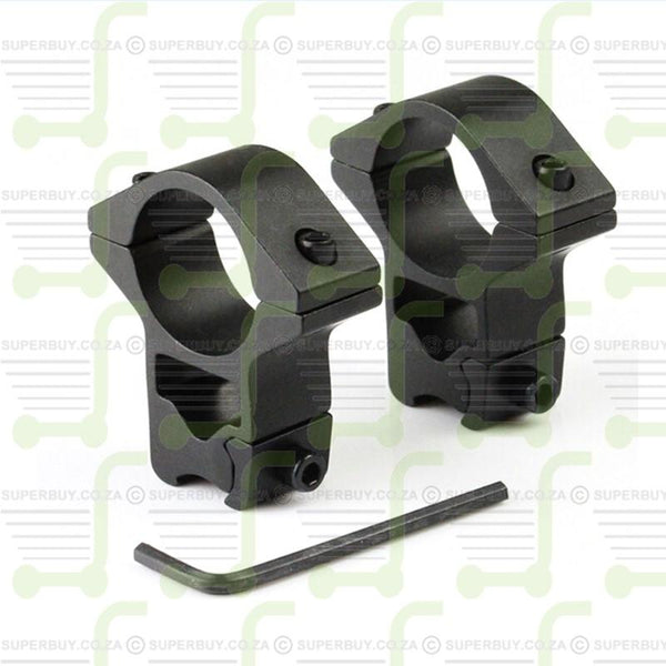 2 Piece Scope Rings v1 25.4mm High Profile 11mm Rail Mounts