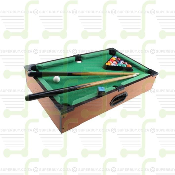 Mini Billiards Pool Ball Set Wooden Tabletop Pool Game with Accessories