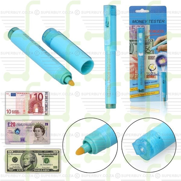 Bank Note UV Money Counterfeit Detector Tester Pen With Built-In UV Light