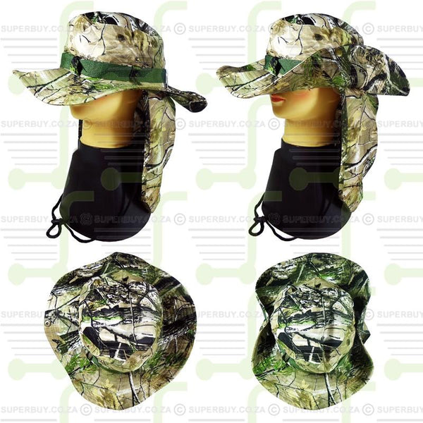 Real Tree Camo Hat 4 with Sun Flap