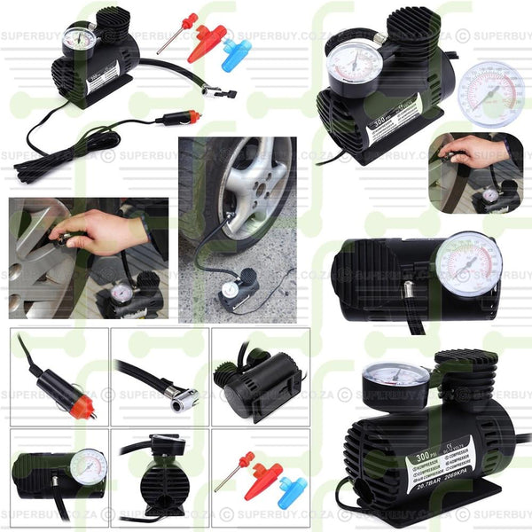 Mini DC 12V Electric Car Air Compressor Inflatable Pumping Air Pump 300 PSI