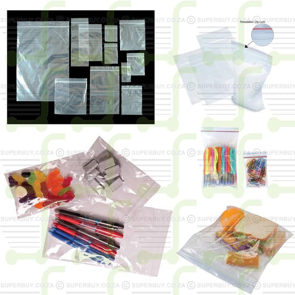 Zip Lock Sealing Lunch Office Packaging Bags 12cm X 17cm