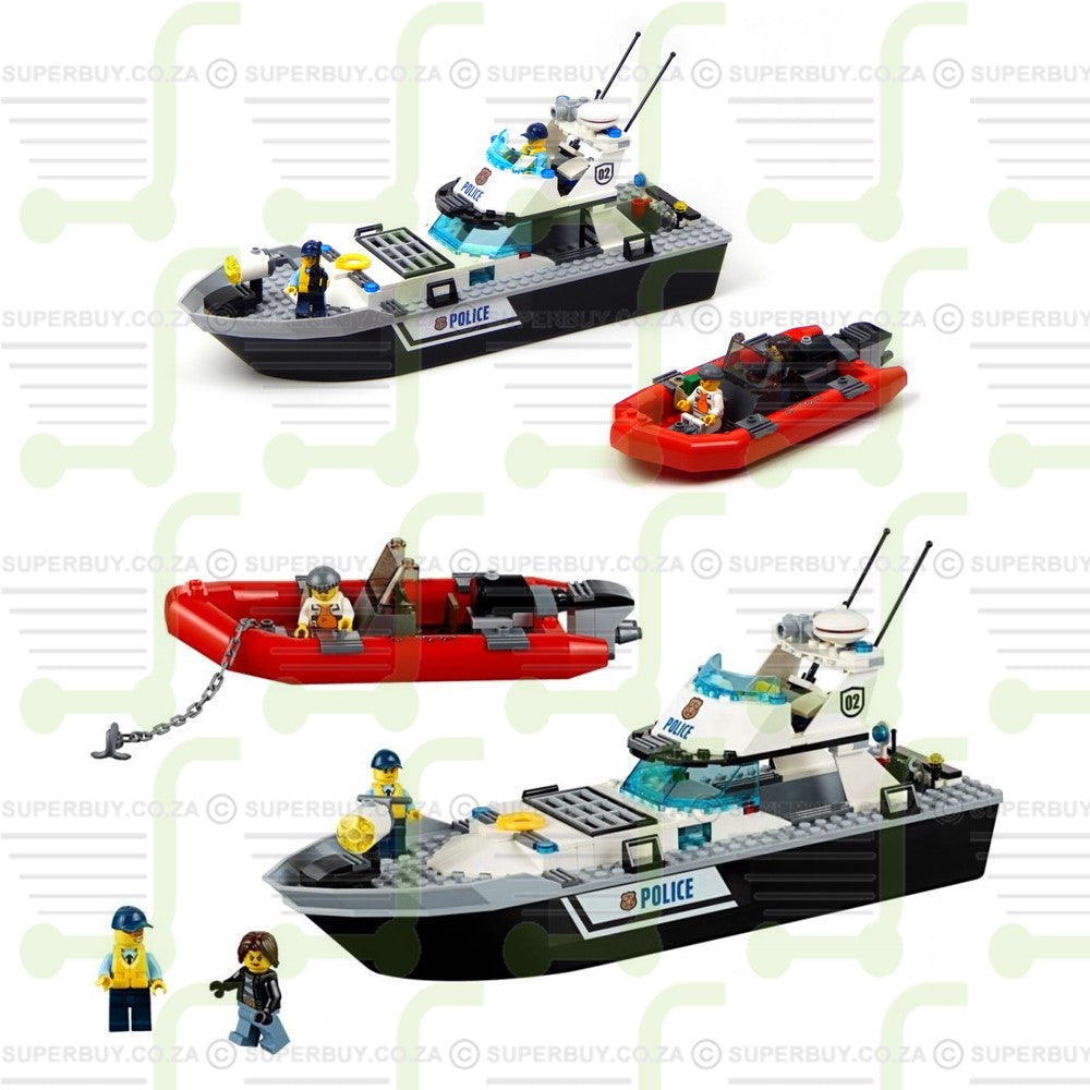 273Pcs City Police Patrol Boats Building Blocks
