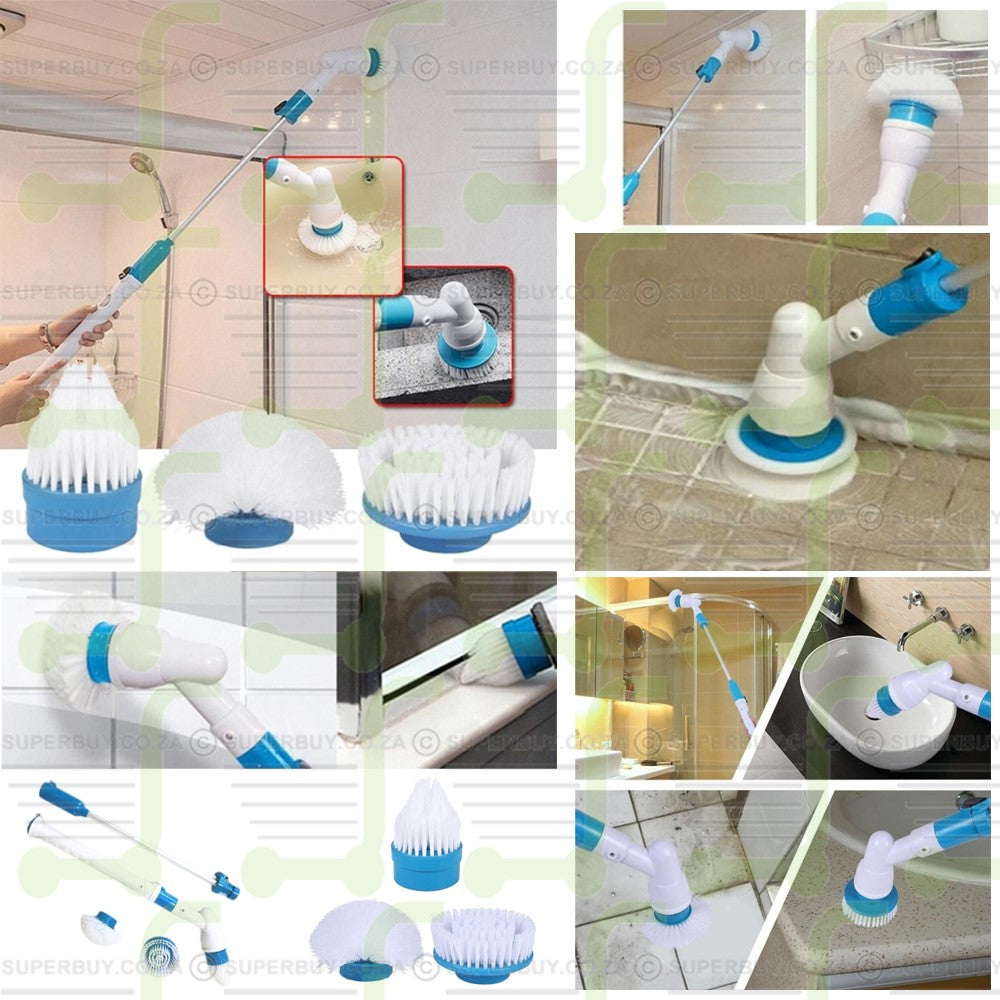 Turbo Scrub Electric Spin Scrubber Household Cleaning Brush Set Home Cleaning Electric Brush Tool