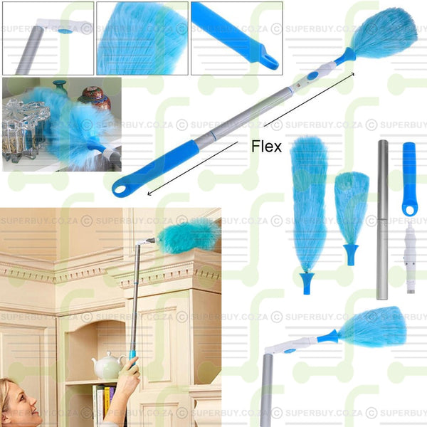 Spin Duster Electric Feather Duster 360 Degree Rotary Bending Cleaning Brush