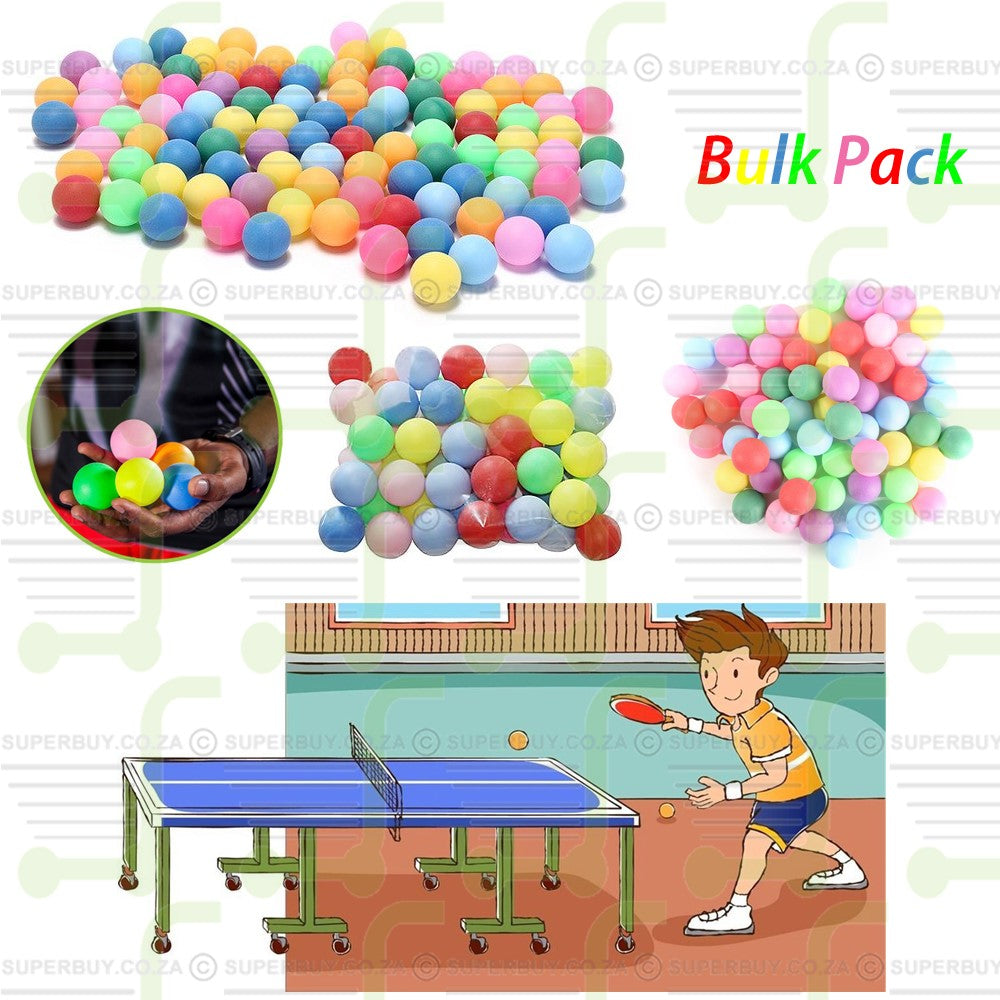 Beer Pong Ping Pong Table Tennis Balls Bulk Pack of 100 (Multi-Color)