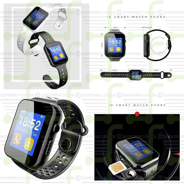 I8 Smart Watch Phone Sports Fitness Tracker
