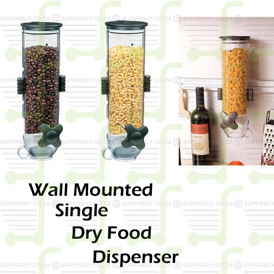 Wall Mount Dry Food Single Cereal Dispenser