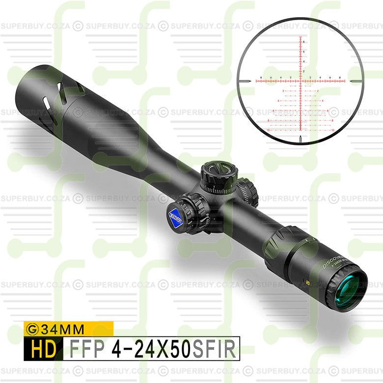Discovery HD 4-24x50 SFIR Scope Reticle SS FFP IR-MIL
