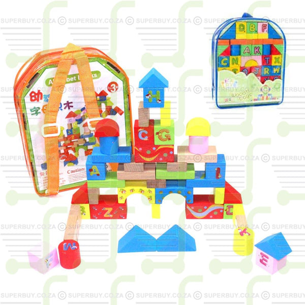 Classical Wooden Blocks in Carry Bag