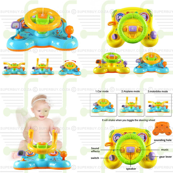 Interactive Baby Toddler Steering Wheel Toy with Lights and Sound