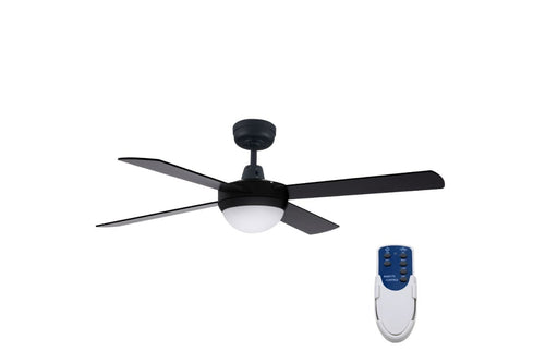 Devanti 52 Ceiling Fan - Black with remote control