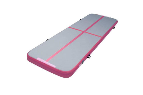 Everfit 3m x 1m Airtrack Gymnastic Tumbling Mat Pink and Grey