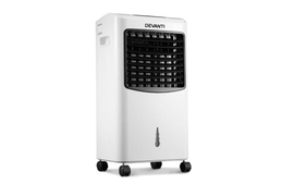Devanti Portable Eevaporative Air Cooler and Humidifier Conditioner - Black & White