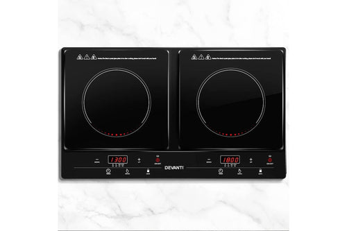 Devanti Induction Cook-top Portable Cooker Ceramic Cook Top Electric Hob Kitchen - Terrific Buys
