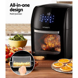 Devanti 9L Air Fryer LCD Digital Low Oil Deep Frying Oven Healthy Kitchen Cooker