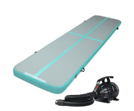 Everfit GoFun 4X1M Inflatable Air Track Mat with Pump Tumbling Gymnastics Green