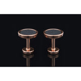 Lockstone One Range Rose Gold Cufflinks