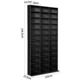 Adjustable Book Storage Shelf Rack Unit - Black