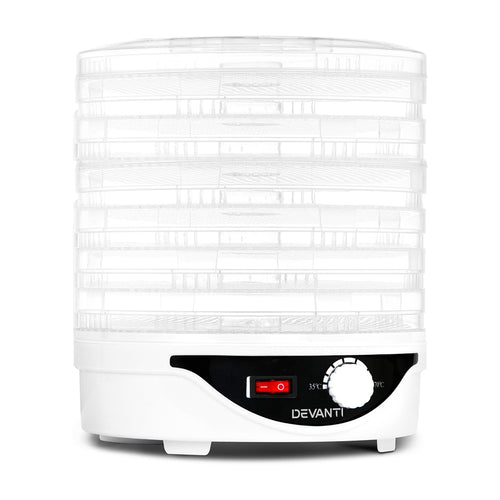 Devanti Food Dehydrator with 7 Trays - White