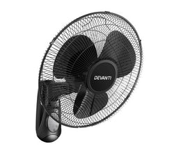 Devanti 40cm 16 Wall Mountable Fan - Black - Terrific Buys