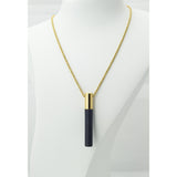 Lockstone Plus Gold Pendant & Three Black Stones