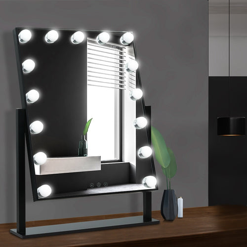 Embellir Hollywood Makeup Mirror Standing Mirror Tabletop Vanity 15 LED Bulbs