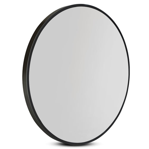 80cm Frameless Round Wall Mirror
