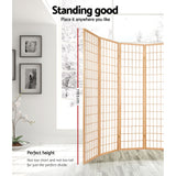 8 Panel Room Divider Privacy Screen Dividers Stand Oriental Vintage Natural