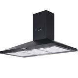 Devanti Rangehood 90cm 900mm Kitchen Canopy LED Light Wall Mount Black