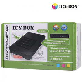 ICY BOX USB 3.0 Keypad encrypted enclosure for 2.5 SATA SSD/HDD (IB-289U3)""