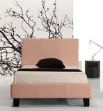 Single PU Leather Bed Frame Pink